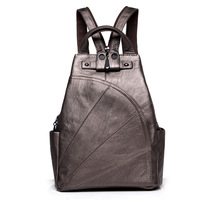 New 2016 100 Real Soft Genuine Leather Women Backpack Woman Korean Style Ladies Strap Laptop Bag