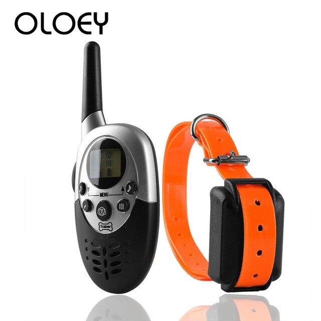 Nouvelle Version 1000m étanche Rechargeable Anti aboiement chien collier de dressage avec télécommande électrique chien choc collier 2019