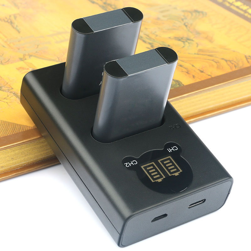 2 PC EN-EL23 EN EL23 batterie de caméra et double chargeur USB pour Nikon Coolpix P600 P610 P610s B700 P900 P900s S810c