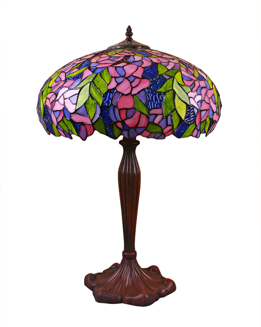 Tiffany Style Table Lamp With Flower Shade Stained Glass Lampfair