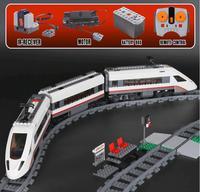 Lepin 02010 של ממש 659 יחידות Ville Serie La הוט-vitesse Passagers רכבת אנסמבל 60051 גושים בניית de Briques garcons