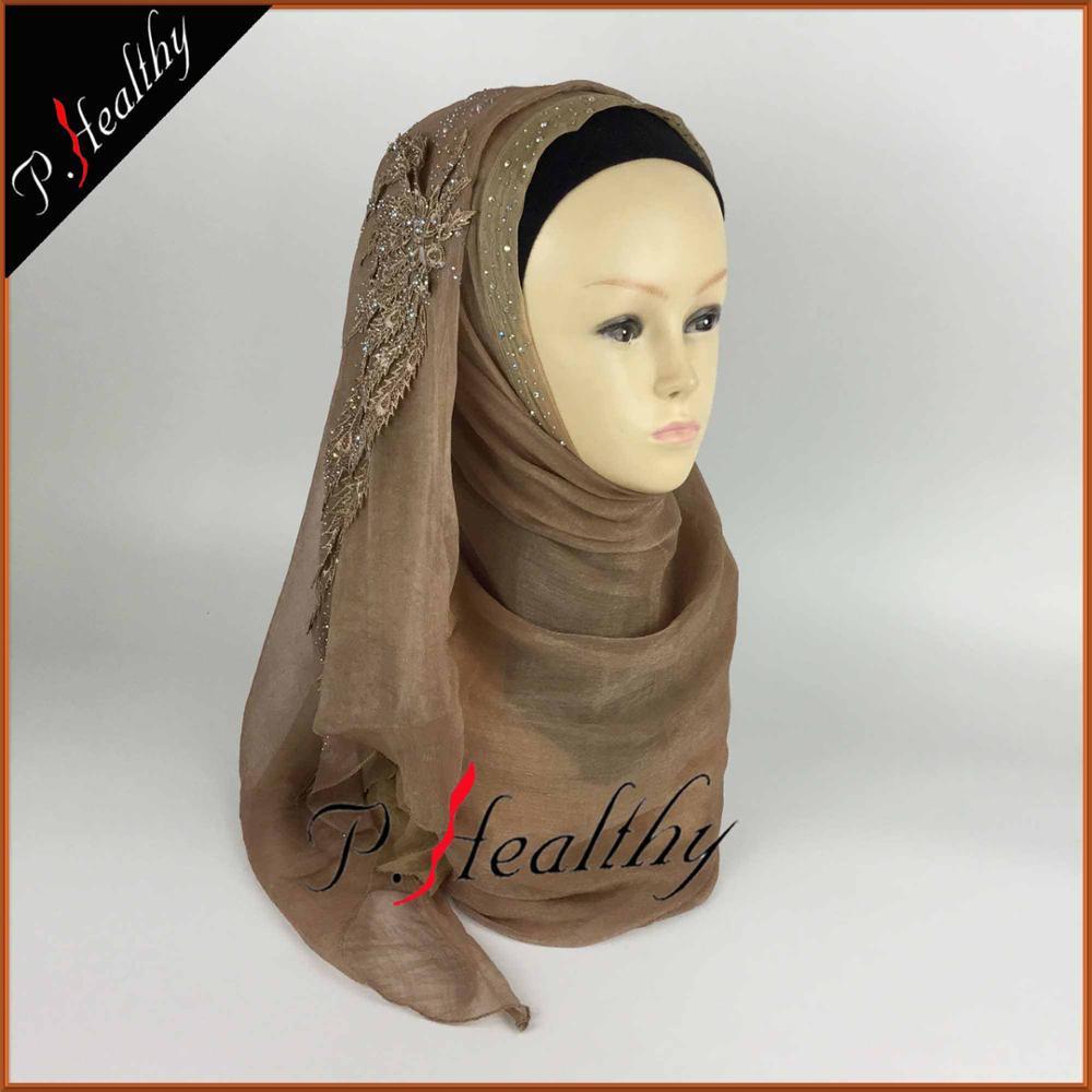 Свадебный хиджаб платок головной убор одежда модная свадебная шаль шарфы Муслин, можно выбрать Цвета, phw001 - Цвет: color4