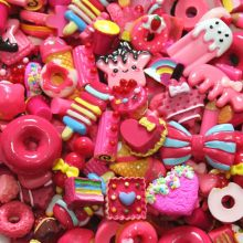 30pcs/lot Mix Cute Kawaii Food, Resin Flatback Cabochons for Phone Deco, Scrapbooking, DIY(China)