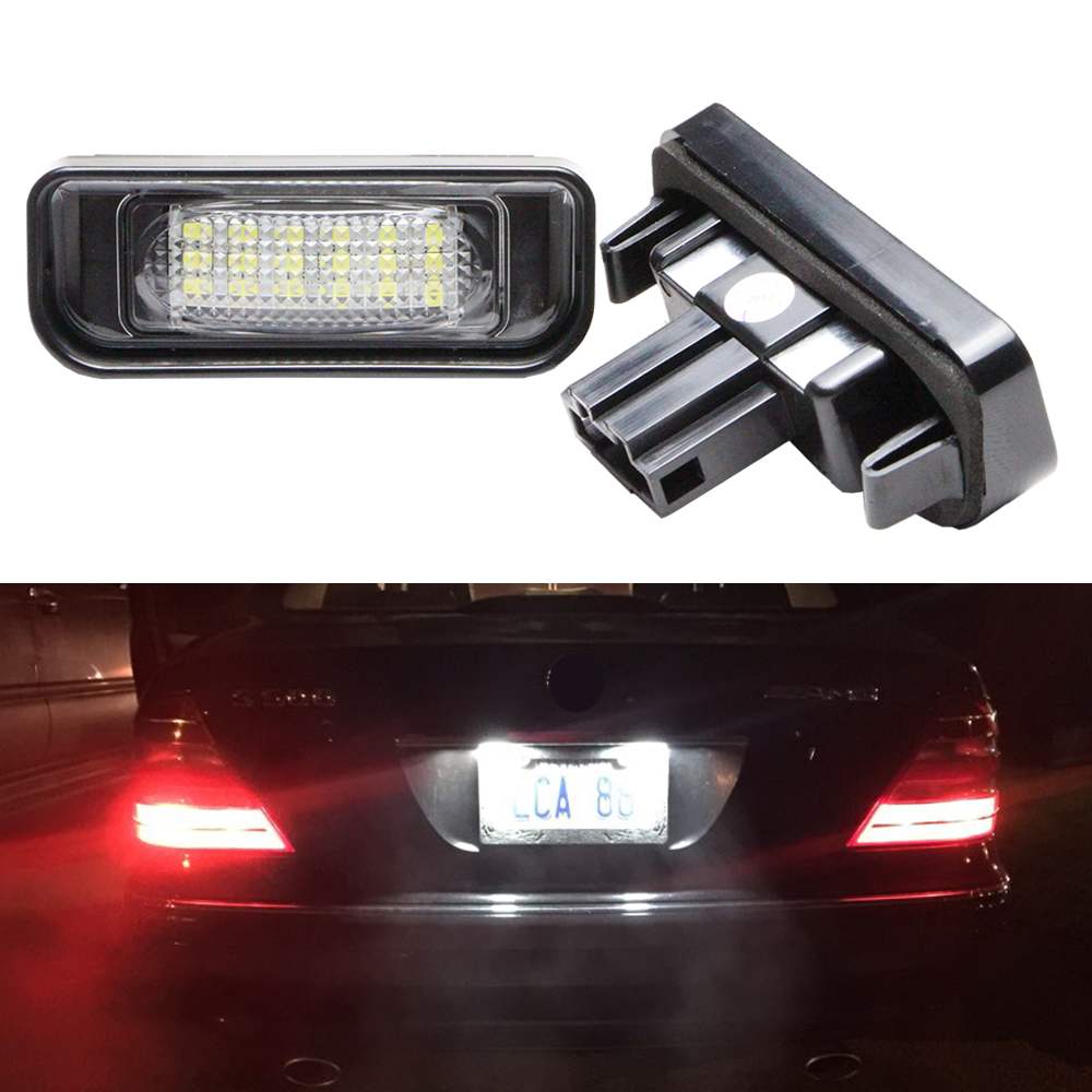 7000K Super White 18SMD Led License Plate Light for <font><b>Mercedes</b></font> Benz W220 S Class S320 S350 <font><b>S500</b></font> S55 S600 S65 Car Lighting Sourcing image