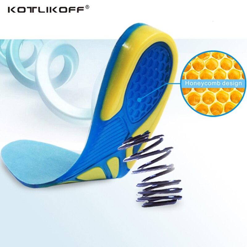 Silizium Gel Einlegesohlen Fußpflege für Plantarfasziitis Fersensporn Laufende Sport Einlegesohlen Dämpfung Pads arch orthopädische einlegesohle