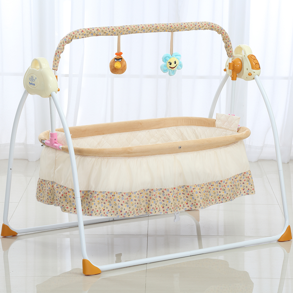 2018 NEW Electric Baby Bassinet Cradle Swing Rocking