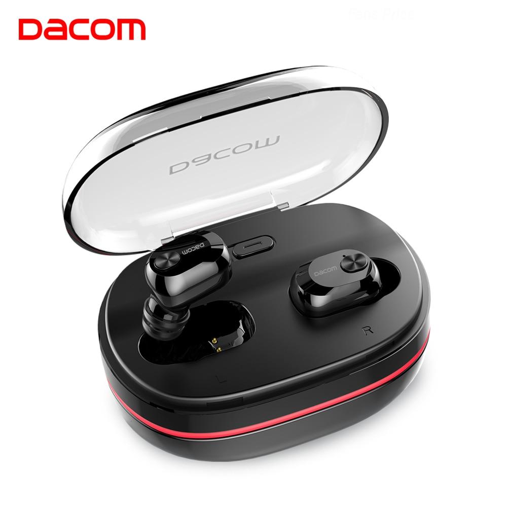 DACOM K6H TWS Handsfree Air Earpiece Mini Headset HiFi Stereo Bluetooth Earbuds Buds Wireless Earphone Headphone for iOS Android