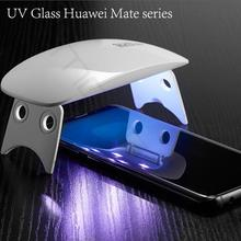 UV Full Glue Screen Protector For Huawei Mate 20 pro RS Tempered Glass Cover Light Liquid for Samsung Note 8 Note9 S9 S8