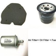 Масляный фильтр+ воздушный фильтр+ топливный фильтр/Комплект фильтров для Benelli 302S BN302 TNT300 STELS 300/BN TNT 300 302 302R 302S