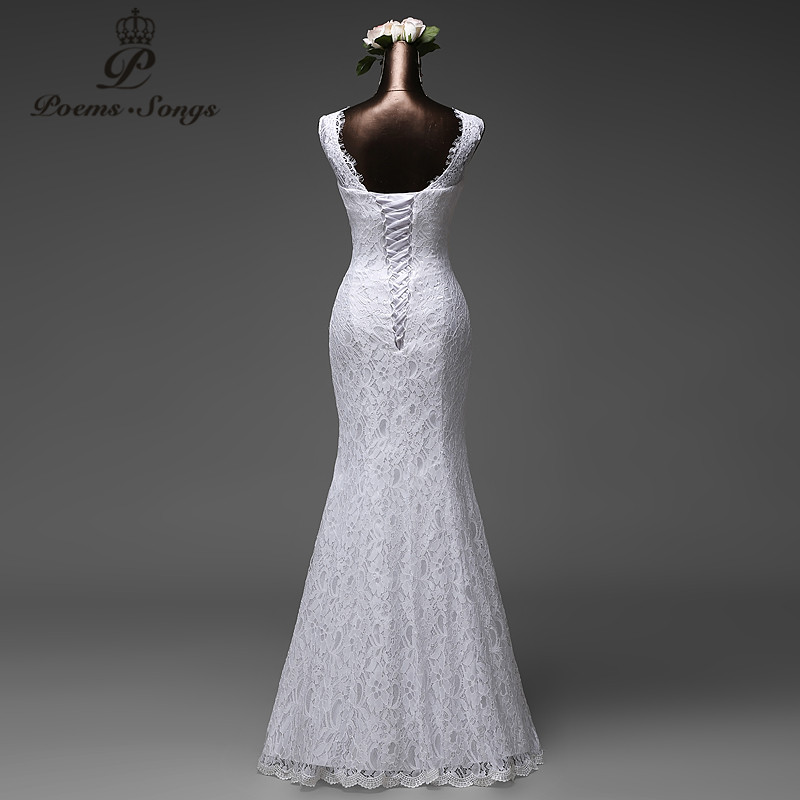 Poemssongs Custom Made High Quality Mermaid Wedding Dress With Tulle Detachable Train Vestido De Noivas In Dresses From Weddings Events On