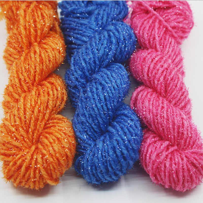 10 Stks/partij Natuurlijke Glad Goud Zijde Acryl Garen Weave Haak Soft Super Dikke Garen Voor Breien Tapijt Sokken Sjaals Slipper
