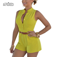 Summer Bodysuit Women Sexy Body Feminino 2018 Bodycon Romper Jumpsuit Club Bodysuit Short Pants Rompers Ladies