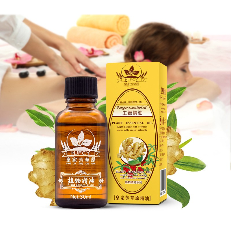 Ginger Body Massage Oil 30ml Pure Plant Essential Thermal For Scrape Therapy SPA
