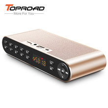 TOPROAD Altavoz Bluetooth Speaker Nirkabel Portabel HIFI Dual Speaker 3D Receiver dengan Mic USB TF FM AUX untuk Ponsel PC(China)