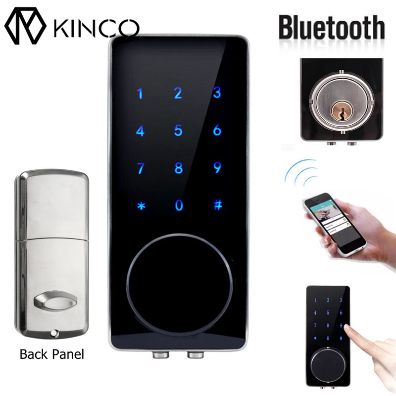 Smart Digital Bluetooth Door Lock Home Security Lock Remote Control Smart Home Keyless Touch Password Deadbolt for Smartphone home electronic invisible wireless locks stealth remote control smart dark lock anti theft door lock
