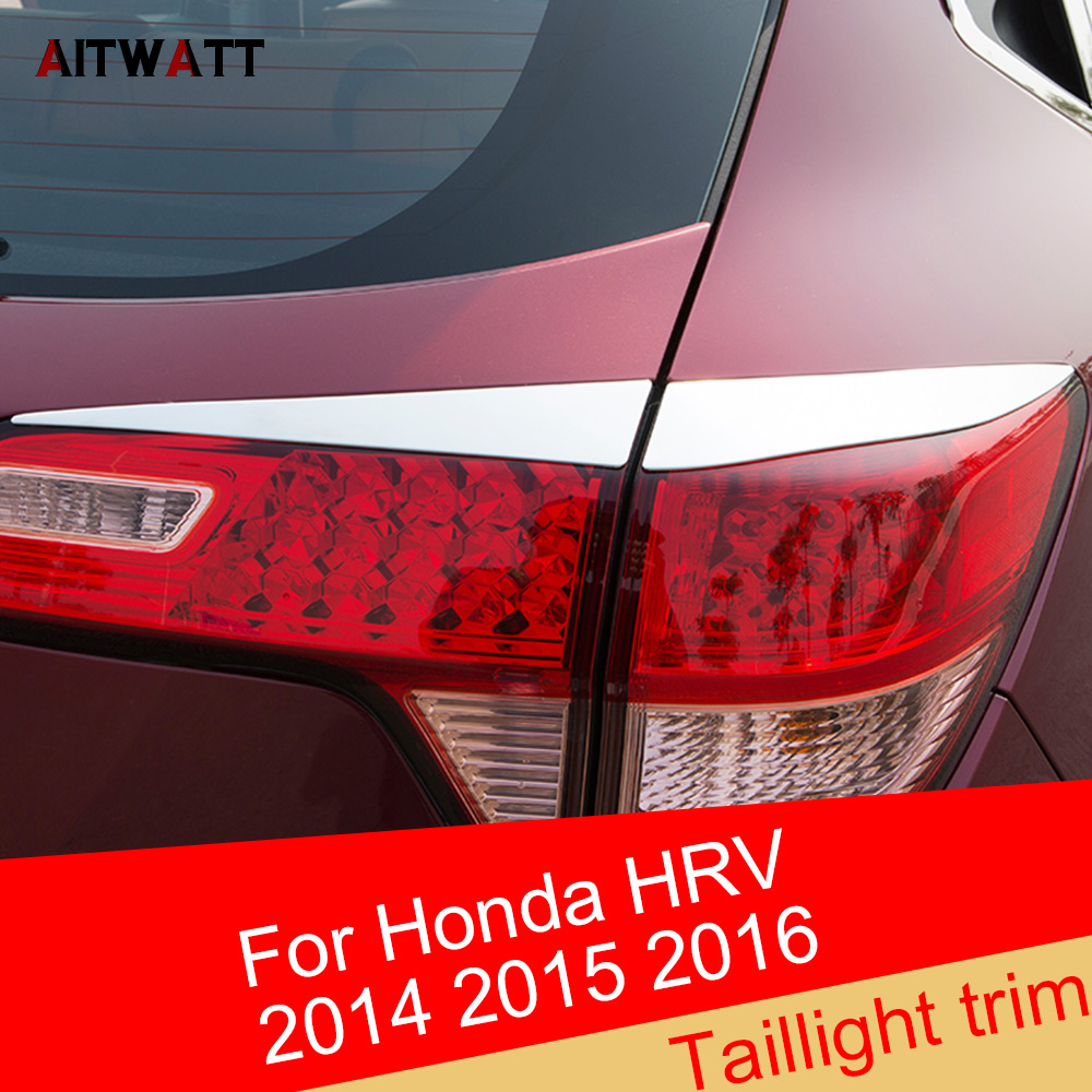 Fit For <font><b>Honda</b></font> Vezel HR-V <font><b>HRV</b></font> 2014 2015 2016 ABS Chrome Exterior Taillight Cover Trims Strip Molding Frame 4Pcs Car <font><b>Accessories</b></font> image