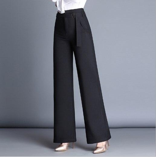 Womens High Waist Pants Loose Plus Size 4XL Wide Leg Pants