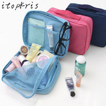 Casual Necessaire Women Makeup Case Bag Cosmetic Pouch Toiletry Bag Travel Multifunction Organizer Big Capacity Bag