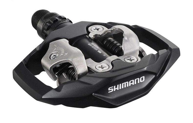 Shimano PD-M530 велосипеда педали гонки MTB горный велосипед педали SPD M530 бутсы Trail самоблокирующимся Бесклипсова bicicleta Запчасти
