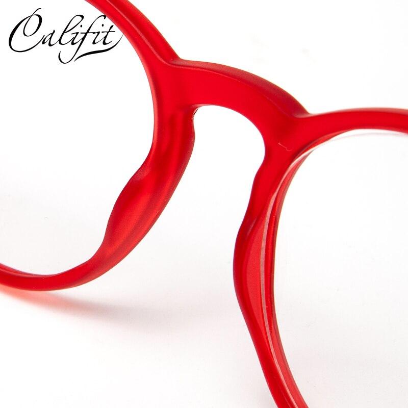 6a397d3dfba ... CALIFIT Vintage Round Optical Glasses Women Prescription Lens Rivets Eyewear  Glasses Female Brand Design Trending Spectacles ...