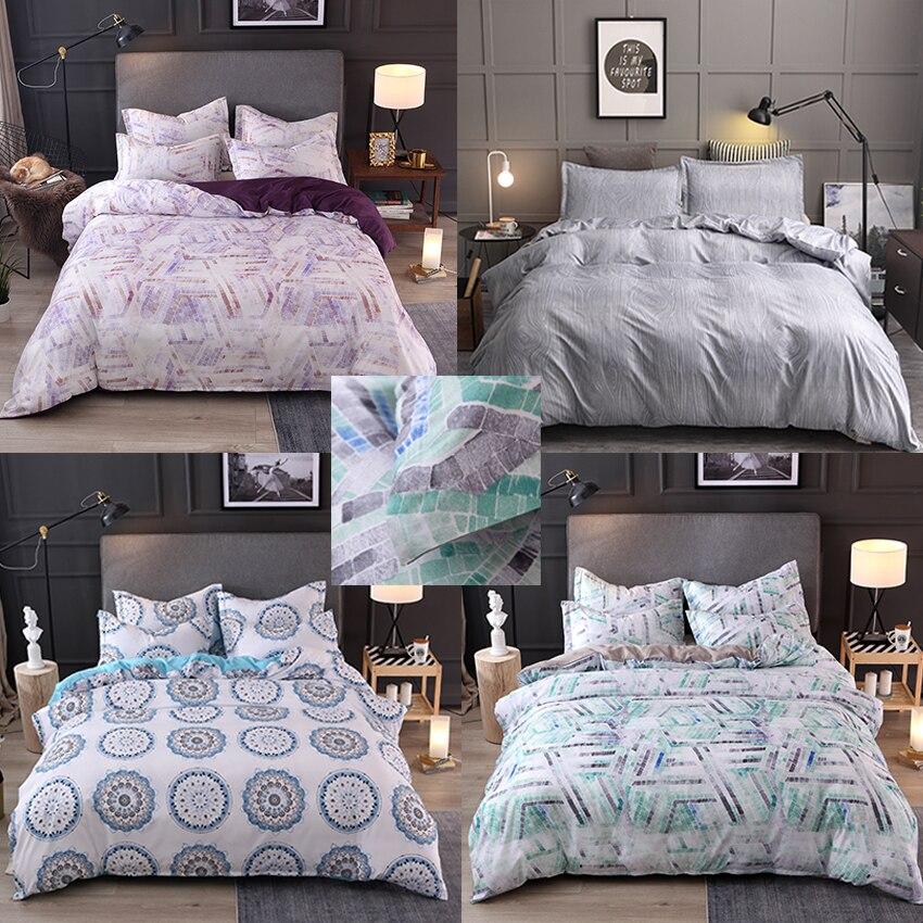 Classic Bedding Set 5 Size Simple Bed Linens 3pcs/set Duvet Cover Pastoral Sheet 2019 E1