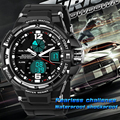 SANDA Fashion Watch Men and Women Lovers' LED Sports Watches Waterproof Quartz Digital Watch Swimming Diving Clock Montre Homme