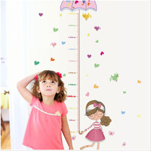 Umbrella Measure Height Girl And Boy Removable Vinyl Wall Sticker Decal Art Home Decoration