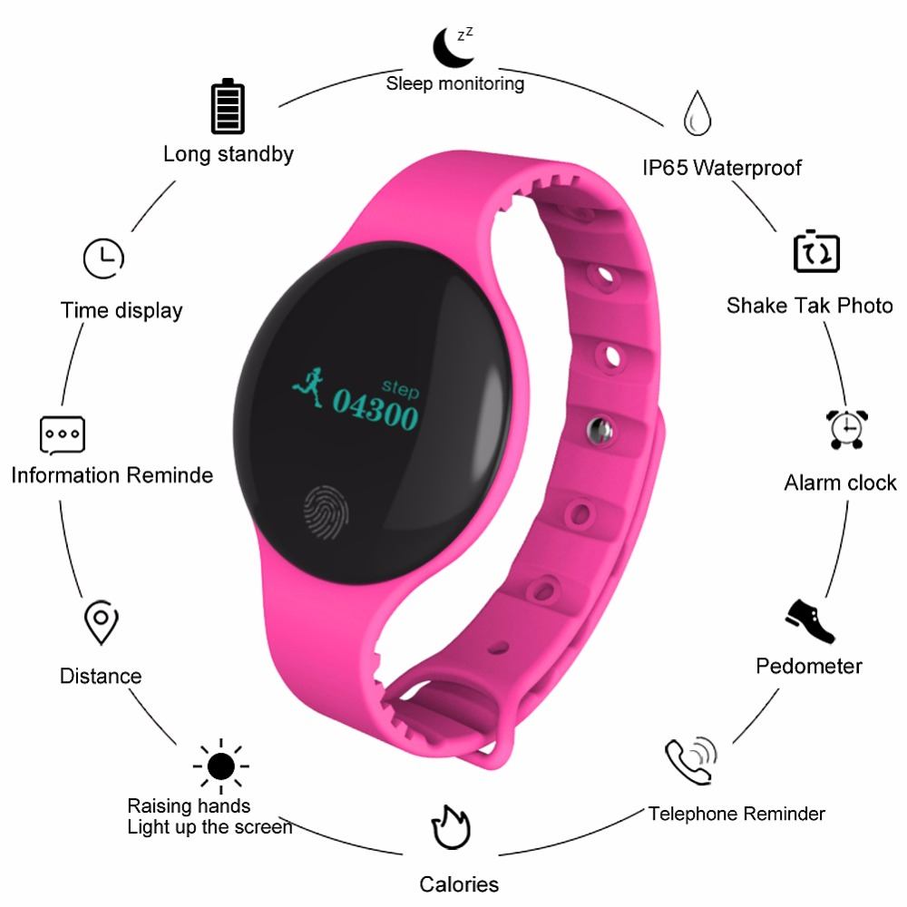 Bluetooth Women Fitness Sports Record Monitoring Smart Band Smart Wrist Band IP66 Healthy Sleep Monitoring Watch for IOS Android