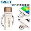 EAGET V90 OTG + USB 3.0 Micro USB Флэш-Накопитель 64 ГБ 32 ГБ 16 ГБ Корабль Из Китая или России и Эстония