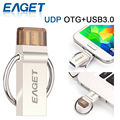 Eaget v90 otg + usb 3.0 micro usb flash drive de 64 gb 32 gb 16 gb nave de china o rusia o estonia