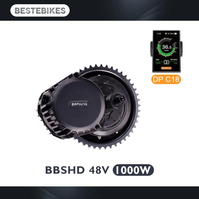 BBSHD 48 V 1000 w bbs03 do motor Bafang meados de acionamento do motor bicicleta elétrica kit de conversão do motor ebike velo electrique