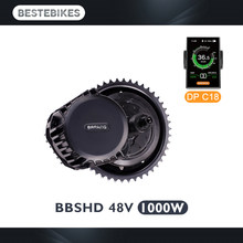 Bafang motor BBSHD 48V 1000w bbs03 mid drive motor electric bike motor ebike conversion kit velo electrique(China)