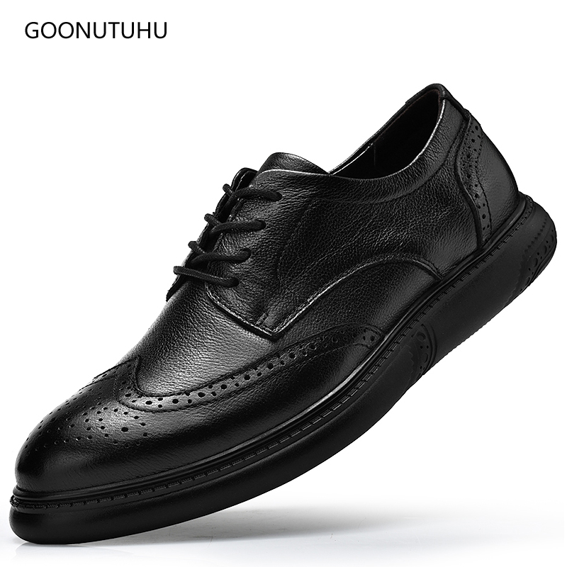 2018 mens dress shoes genuine leather cow classic black lace-up formal shoe man office elegant brogue shoes for men big size 462018 mens dress shoes genuine leather cow classic black lace-up formal shoe man office elegant brogue shoes for men big size 46