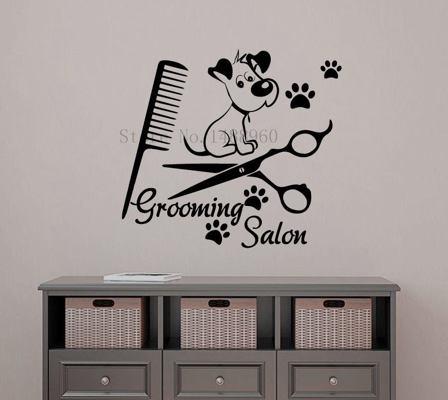 Dog grooming salon design reviews online shopping dog grooming salon design - Decoration mural salon ...