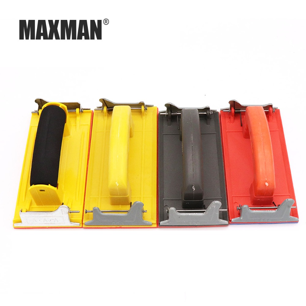 MAXMAX Hand-held plastic shelf polishing tool home improvement grinding wall special sand frame flat sanding paper holder