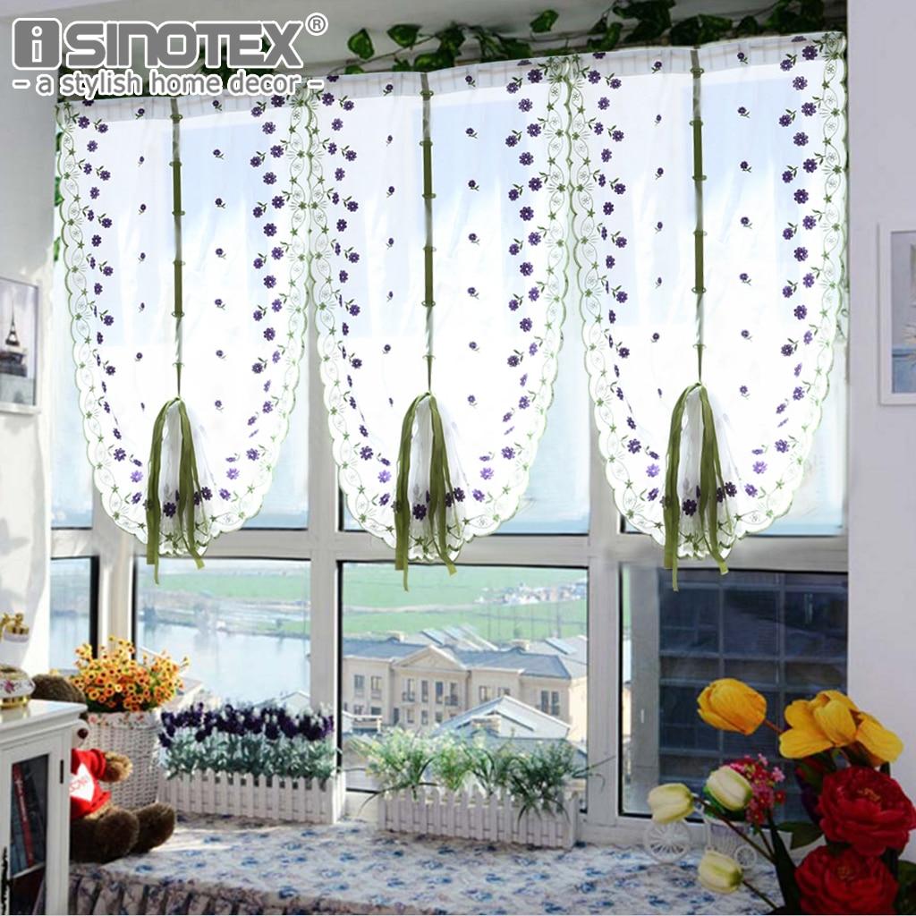 velo de tul flor del bordado cortina de la ventana cortinas romanas decoracin saln rideaux pour