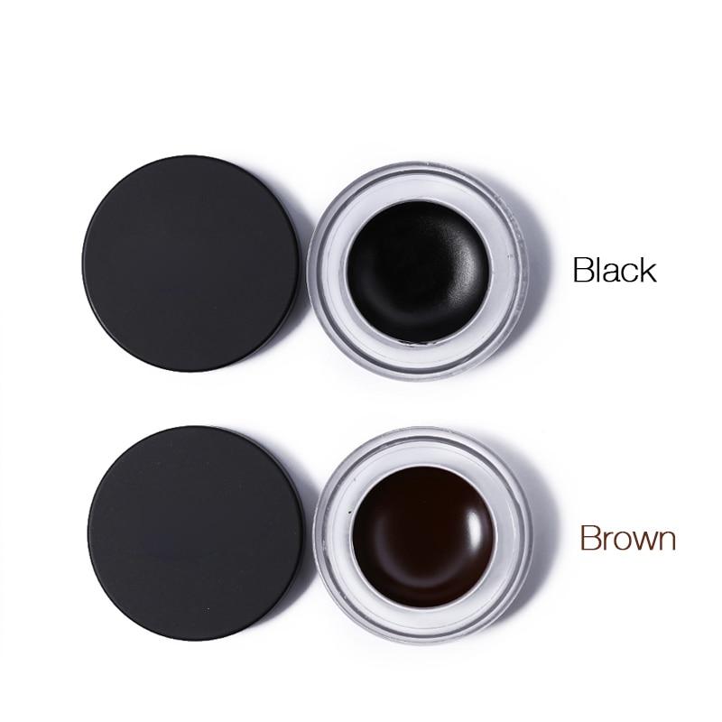 BRAND NEWMakeup Eye Liner Cream Natural Waterproof Eyeliner Soft Gel Long Lasting Smooth Black Brown Color