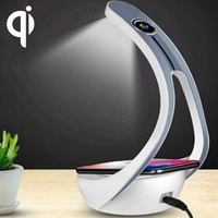 HAMTOD HT10 LED Desk Lamp 10W Max Fast Charging Qi Wireless Charger Pad For iPhone X / XS / XS MAX and Other QI Standard phones