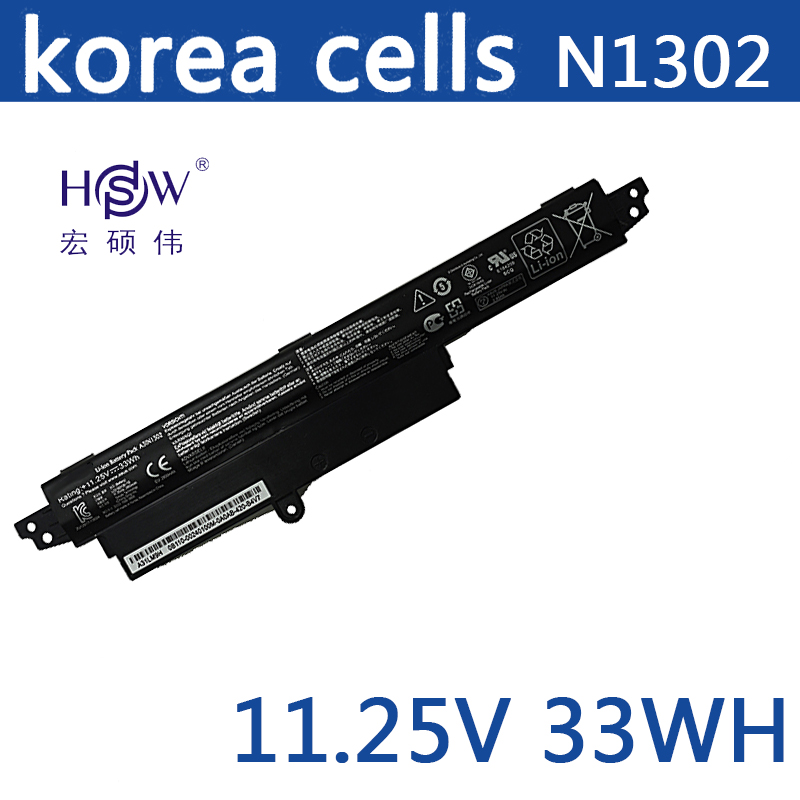 HSW 11.25V 33WH A31N1302 Battery For ASUS VivoBook X200CA X200MA X200M X200LA F200CA 200CA 11.6A31LMH2 A31LM9H bateria jigu 2600mah laptop battery a31lmh2 a31n1302 for asus vivobook f200ca vivobook f200m vivobook f201e kx063h vivobook f200ma