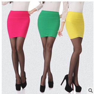 Summer Style American Apparel Cotton Pencil Skirts Ladies All-match Skirt above Knee Mini 16 Colors