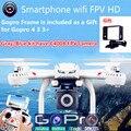 Dreon X101 MJX Vuelo FPV Quadcopter Wifi Sin Cabeza de Una Tecla de Retorno los zánganos pueden + C4010 HD FPV Cámara GoPro vs H8D H11D H12C