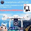 MJX Dreon X101 Decapitado Um Retorno Vôo FPV Quadcopter Wi-fi Drones pode + C4010 HD FPV GoPro Camera vs H8D H11D H12C