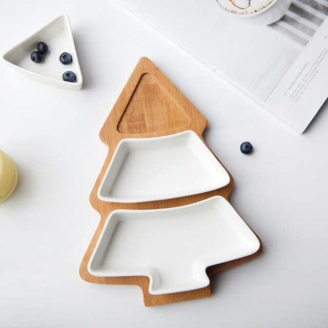 1Pcs Christmas Tree Dinnerware Salad Cake Fruit Dessert Candy Ceramic Dishes Porcelain Plates Restaurant Tray Tableware  sc 1 st  AliExpress.com & 1Pcs Christmas Tree Dinnerware Salad Cake Fruit Dessert Candy ...