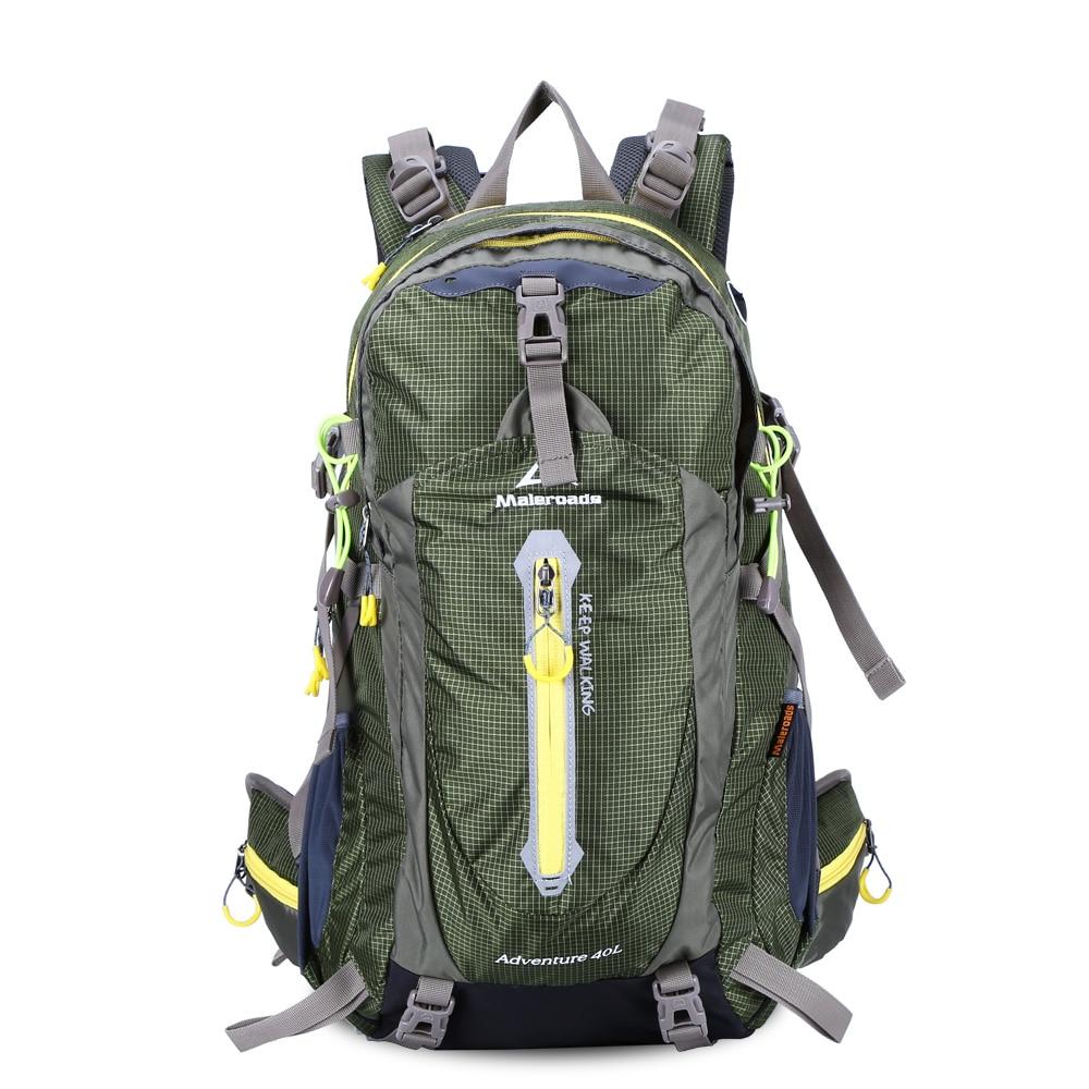Maleroads 40L Водонепроницаемость нейлон открытый мешок Пеший Туризм рюкзак мешки спортивный рюкзак велосипед рюкзак сумка