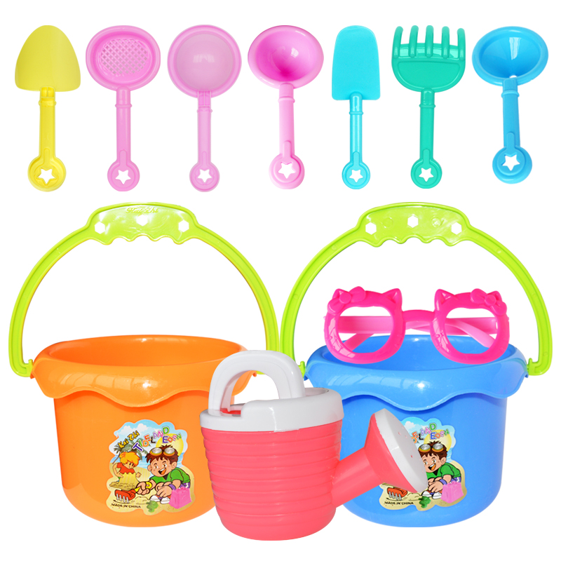 Hot 9pcs set Funny Kids Sand Pit Summer Beach Bucket Toys Seaside Games Play Toys For
