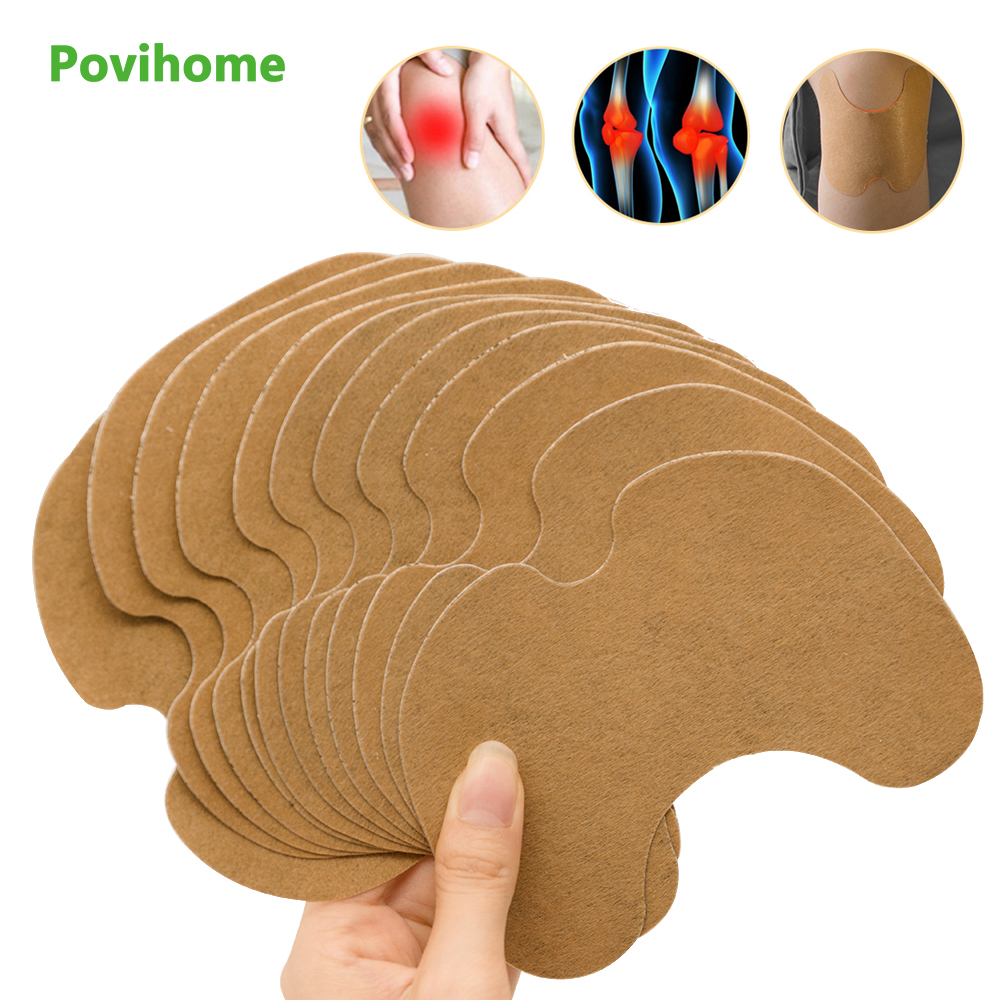 24pcs Knee Medical Plaster Wormwood Extract Knee Joint Ache Sticker Knee Rheumatoid Arthritis Body Pain Relieving Patch D1955