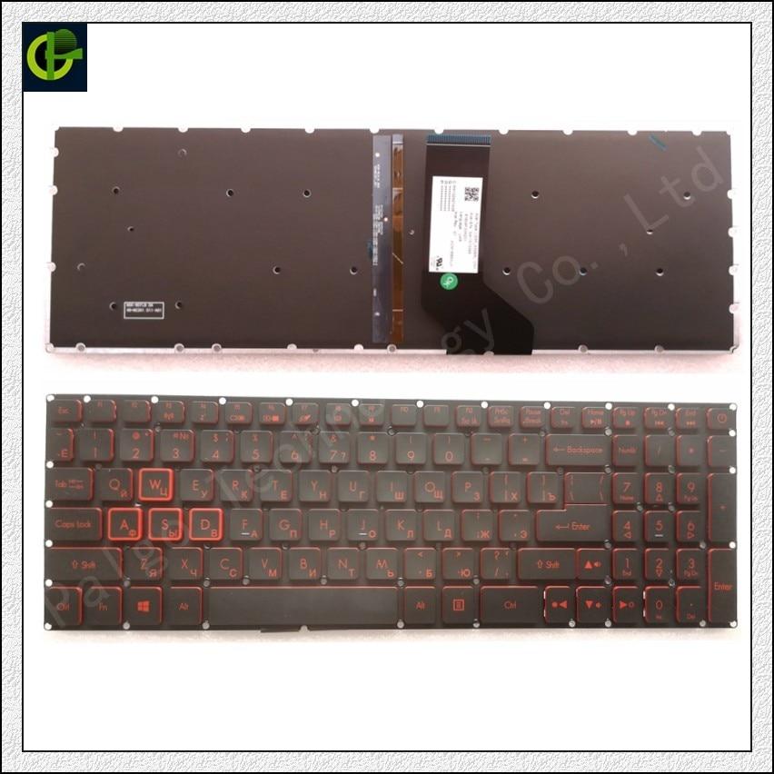 Russian Backlit Keyboard For Acer Nitro 5 AN515 AN515-51 AN515-52 AN515-53 AN515-41 AN515-42 AN515-31 N17C1 AN515-51-56U0 RU