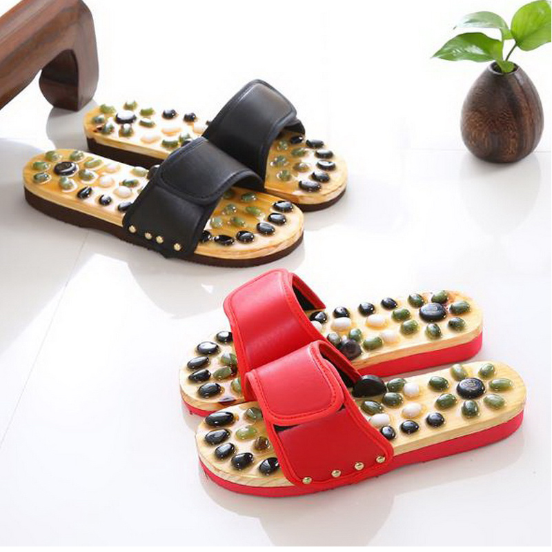 170609/Magnet Massage Slippers / Female Couples Stone Massage Slippers / Foot Acupoints Home Foot Shoes / Summer Massage Shoes