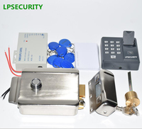 LPSECURITY fingerprint keypad RFID reader Electronic Security Entry Door Lock   Access     Control   system with 10 ID tags or cards
