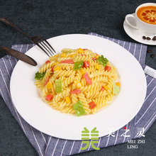 Simulation Food Model Dishes Decorative Sample Screw Pasta Model Simulation Pasta Handicraft Artificial Props Ornaments Display